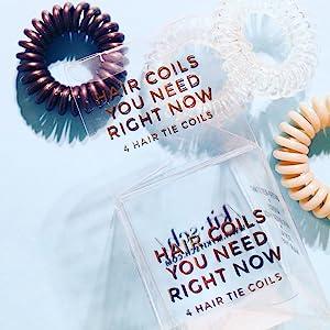 spiral hair ties creaseless bump free no damage ponytail rubberband hair tie