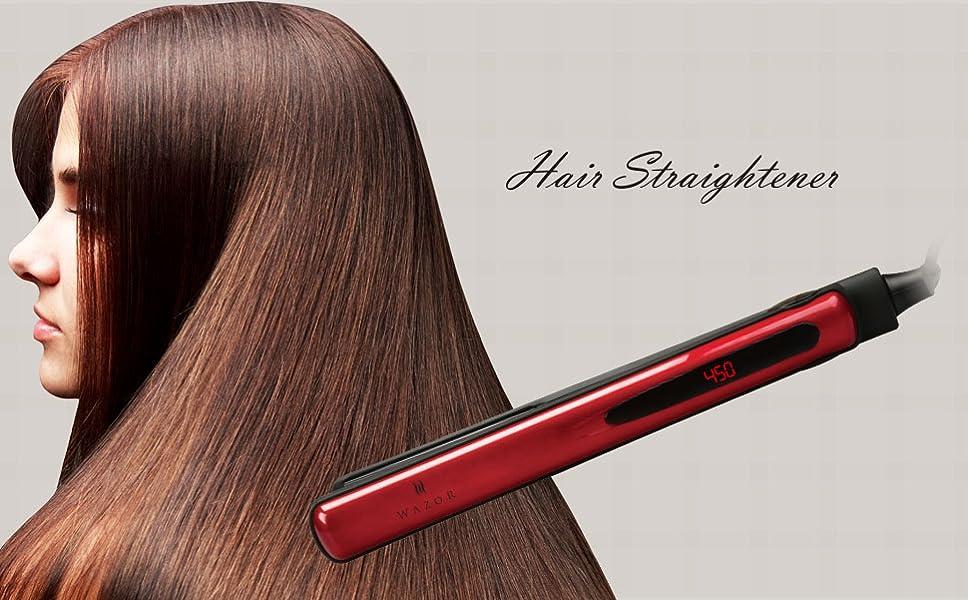 Amazon Com Wazor Hair Flat Iron 1 Inch Ceramic Hair