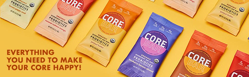 CORE Foods - Barra de avena orgánica para la noche + ...