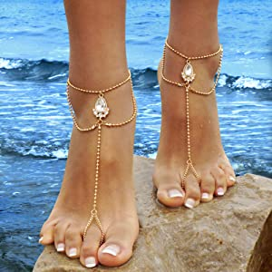 31591d5579c7 Amazon.com  Bienvenu Handmade Ankle Bracelet Summer Beach Shell ...