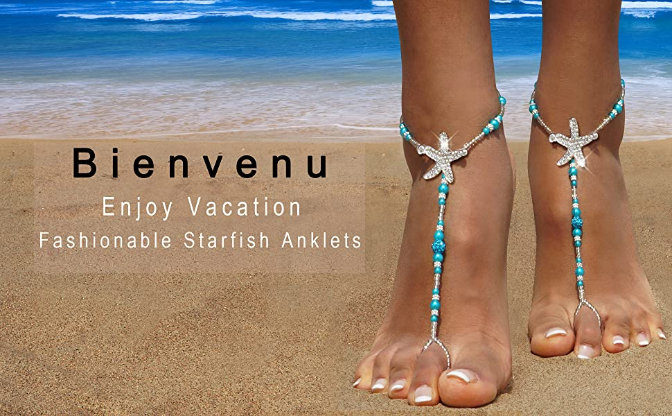 b2a1bd598d6fd Bienvenu Bohemia Style Wedding Barefoot Sandals Beach Anklet Chain Foot  Jewelry