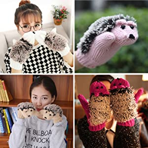 these cute soft warm winter gloves are great gifts for your daughters, mom, wife and friends