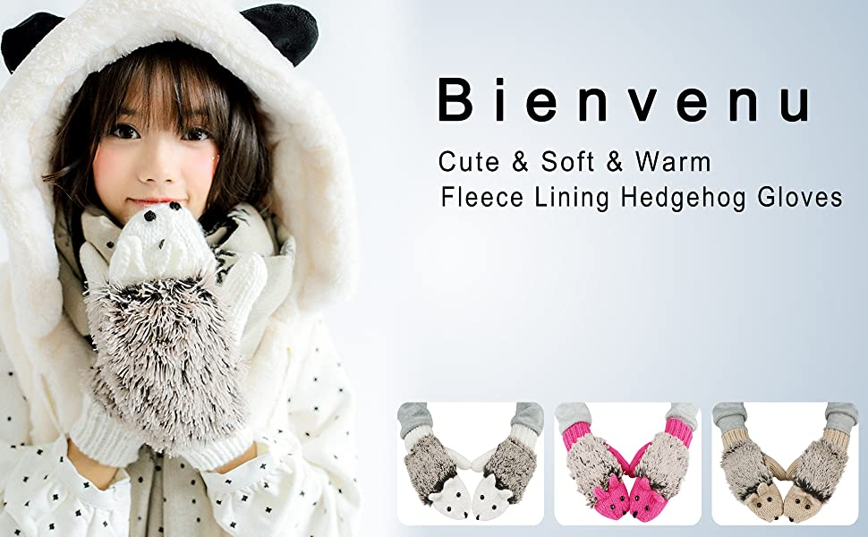 These hedgehog mittens are your perfect choice: cute, soft, warm.