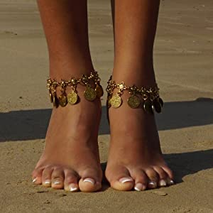 Our Boho Coin Tassels Beach Anklets Features
