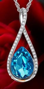 f6d8f2e64c9e3f Amazon.com: LADY COLOUR Bracelet for Women Wife Birthday Aquamarine ...
