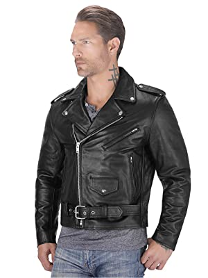 Viking Cycle Angel Fire Premium Grade Cowhide Leather Motorcycle Jacket For Men