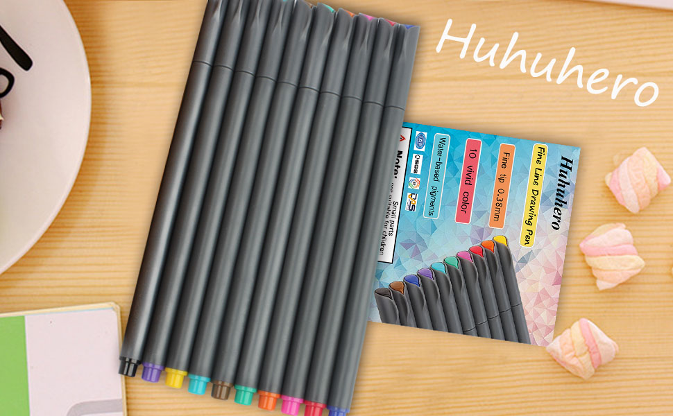Line Art Converter Online : Amazon huhuhero fineliner color pen set mm fine line