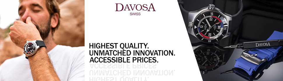 Best Value for Money: When you purchase a new DAVOSA watch from one of our exclusive sales partners and retailers, you will have no worries.
