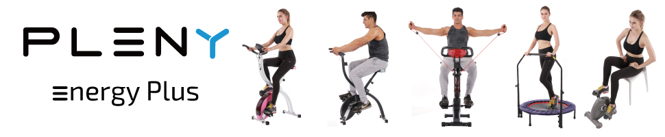 Pleny Foldable Upright Stationary Exercise Bike With