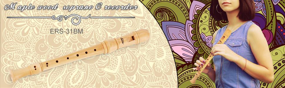 Eastar Maple Wood soprano  c recorder