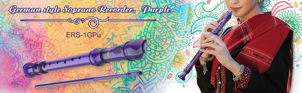 Eastar recorder ERS-1GPu Purple soprano