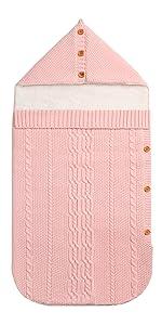 Amazon.com : MiMiXiong Baby Swaddling Blanket Newborn Knitted Sleeping Sack(Beige) : Baby
