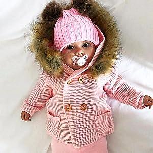 4f8de2ef20c3 Amazon.com  mimixiong Baby Boy Cardigan Sweater Cartoon Hoodies Long ...