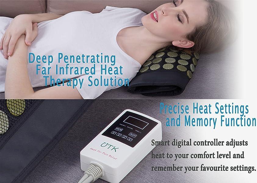 Amazon.com: UTK® Far Infrared Natural Jade Heating Pad for pain relief,Medium(21''x31''): Health & Personal Care