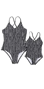 85fb69d3568 Mommy and Me Swimsuit Flower Print Halter Two Pieces Bikini · Mommy and Me  Swimsuit Striped One Piece Swimwear · Family Letters Print Cross Back  Sporty ...