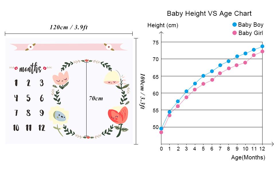 Amazon.com: CAVN Mensual de bebé Milestone Manta de Ducha ...