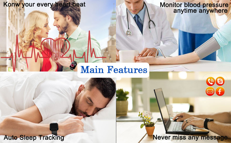 Heart rate blood pressure sleep message reminder