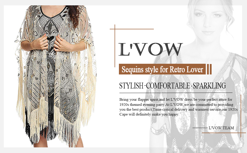 1920s Evening Wrap Beaded Shawl Fringed Oversized Cover Up 20s Accessories Set