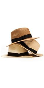 Straw Fedora Hat Summer Hat