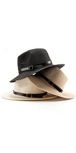 Womens Fedora Hat Straw Hat