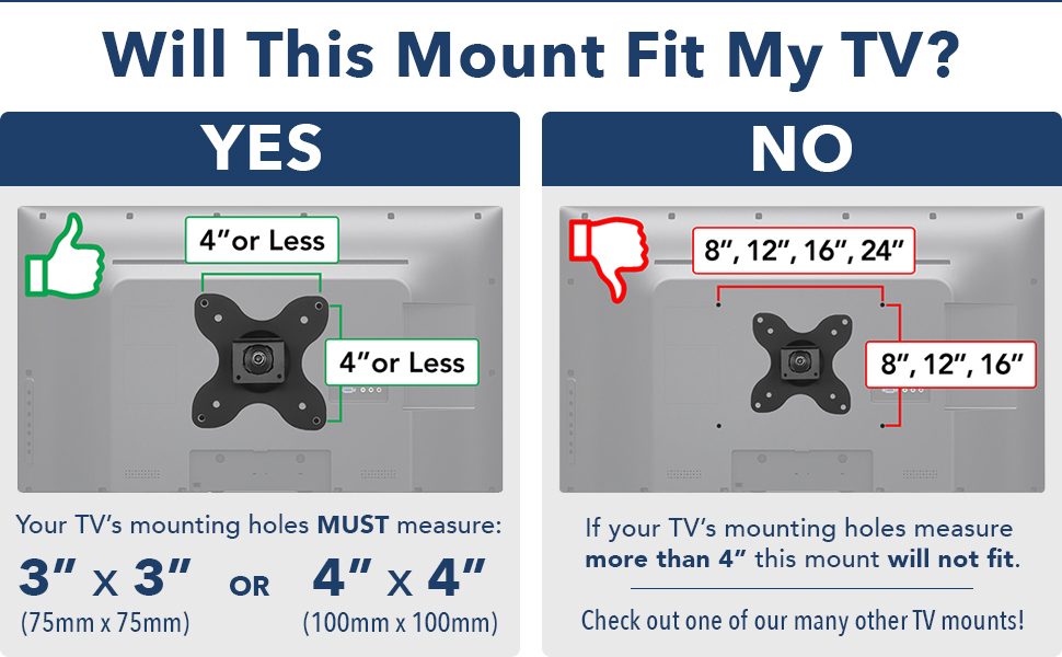 Mount-It Tv Wall Mount Universal Fit For 19 20 24 27 32 34 37 And 40 Inches New