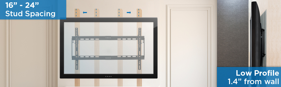 low-profile tilting TV wall mount