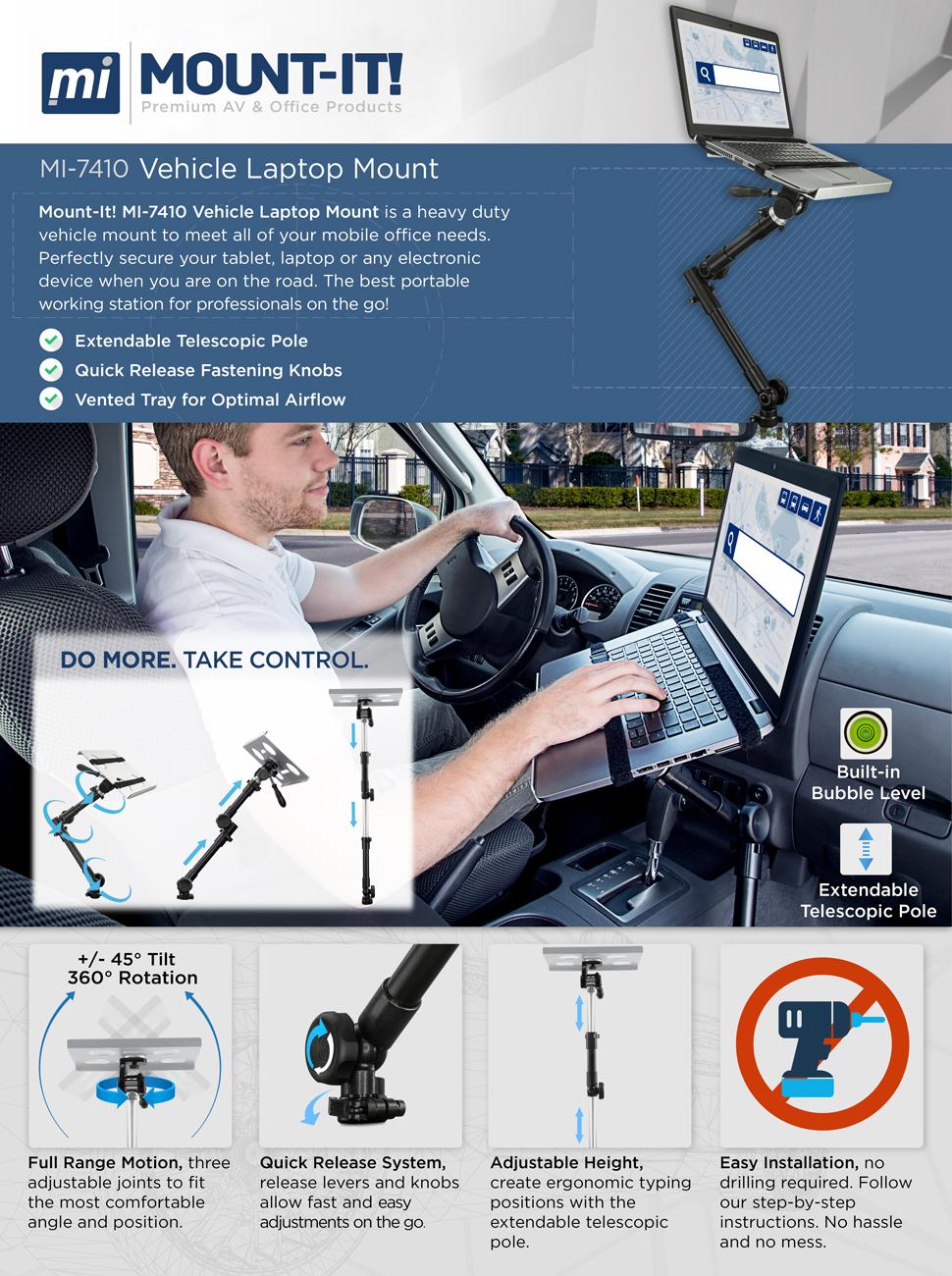 Notebook Laptop Mount Desk Auto Car Truck Stand Holder