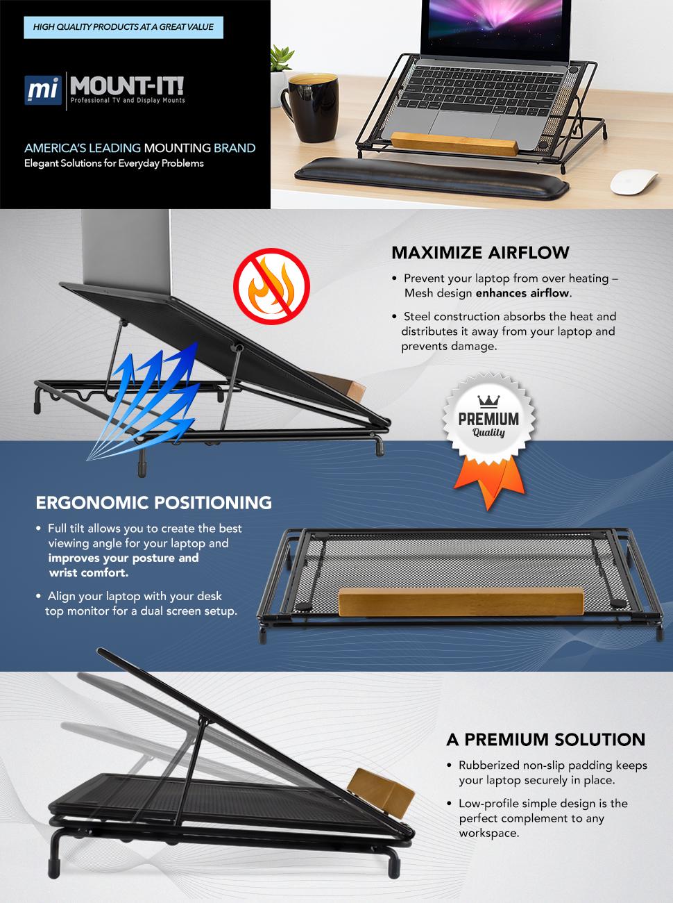 NA Adjustable Grid Folding cooling Desk Ergonomic Portable Laptop stand Light Weight Color:Green