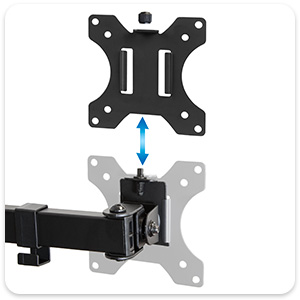 quad monitor mount