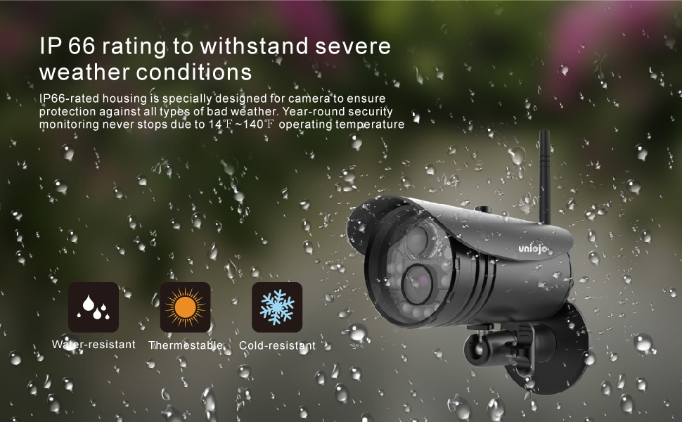Wireless Security Camera System 1080p Outdoor Home Camera 2.4G Waterproof
