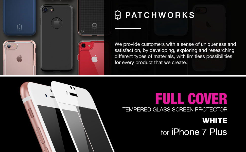Amazon Patchworks ITG FULL COVER White for iPhone Plus