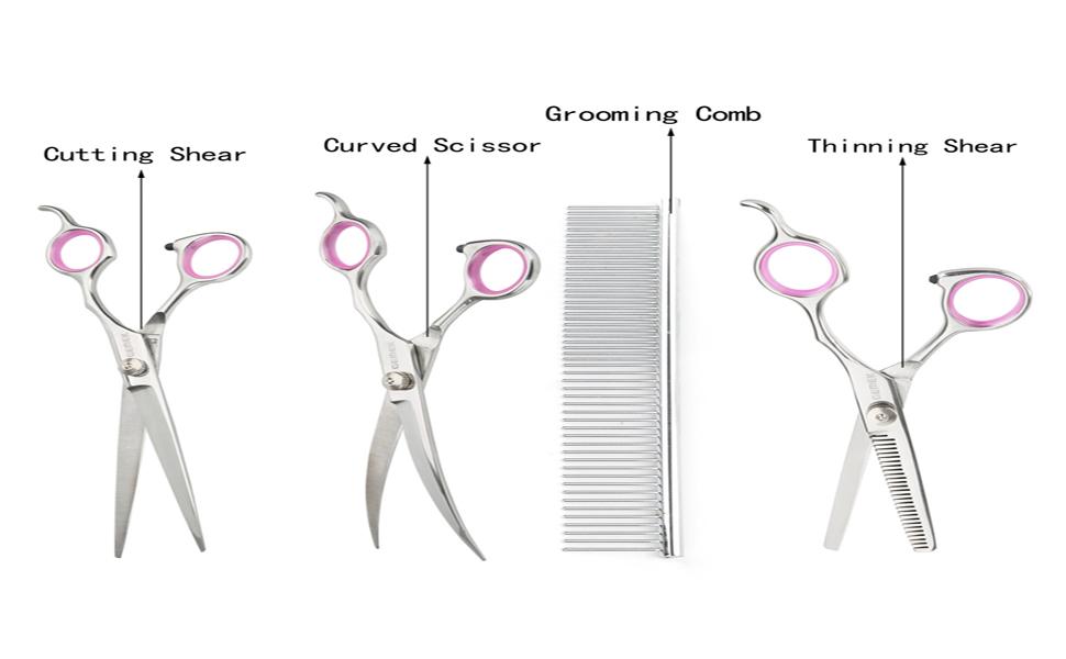 GEMEK Pet Grooming Scissors Set