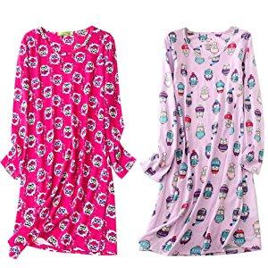ENJOYNIGHT Women's Cotton Sleepwear Long Sleeves Nightgown