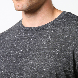 casual garb snow heather crew neck t shirts for men