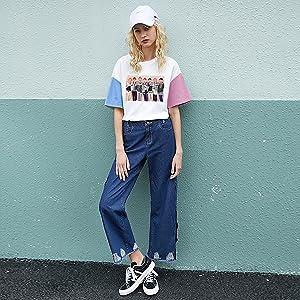 JUNG KOOK Kpop BTS Love Yourself Answer Shirt SUGA Jimin Spell Color T-Shirt Tee