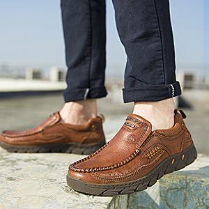 Completamente Nuevo Hombre antideslizante en mocasines de Hebilla Conducción Zapatos CCC072-Camel