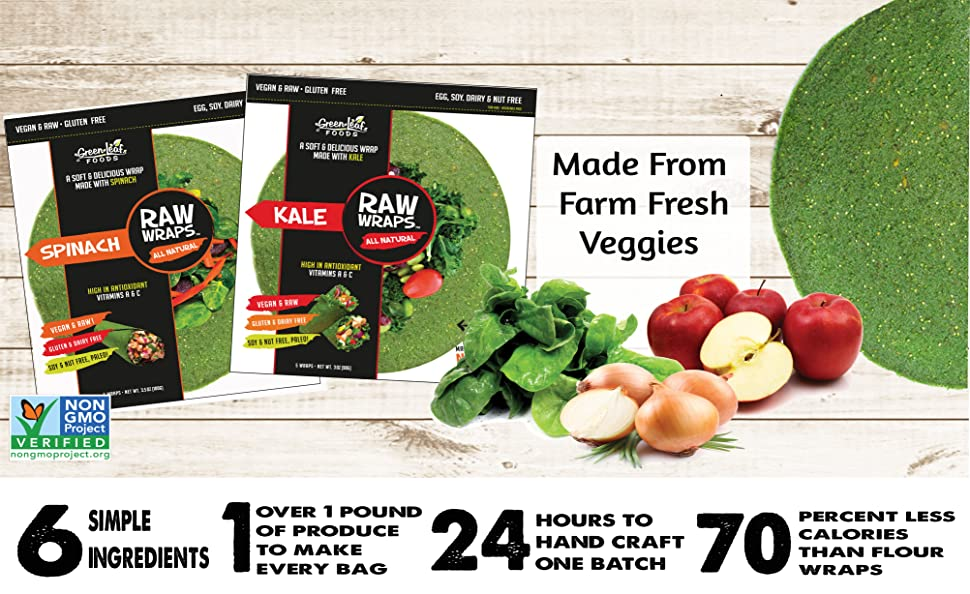 Amazon Com Raw Wraps Spinach Gluten Amp Soy Free Vegan