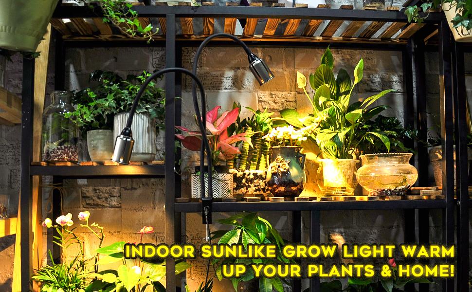 Amazon Com Bozily Grow Lights For Indoor Plants Full Spectrum