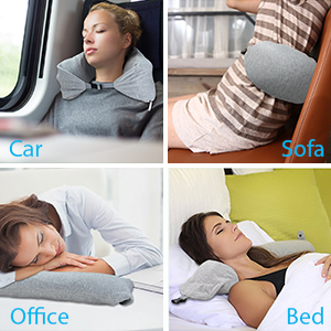 travel pillow for train airplanes kids neck support neck pillow small blanket