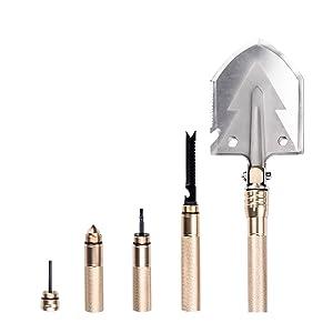 Amazon.com: BACOENG 17 en 1 pala plegable – con cuchillo y ...