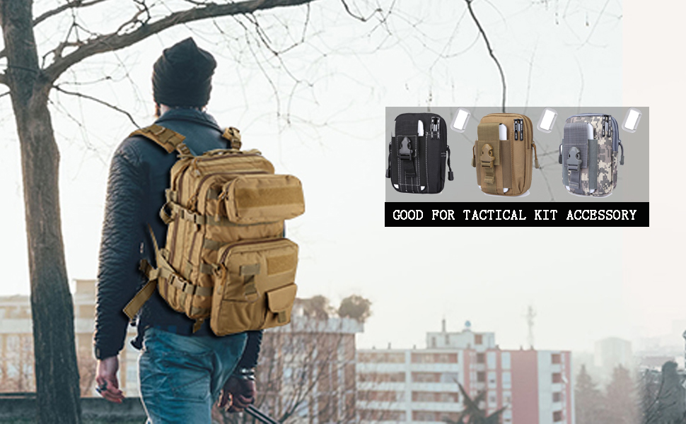 94d8c3b06914 G4Free Tactical Molle Pouch Compact EDC Purse Utility Gadget Waist Bag Pack  CCW Fanny Pack with Cell Phone Holster for iPhone 6 Plus