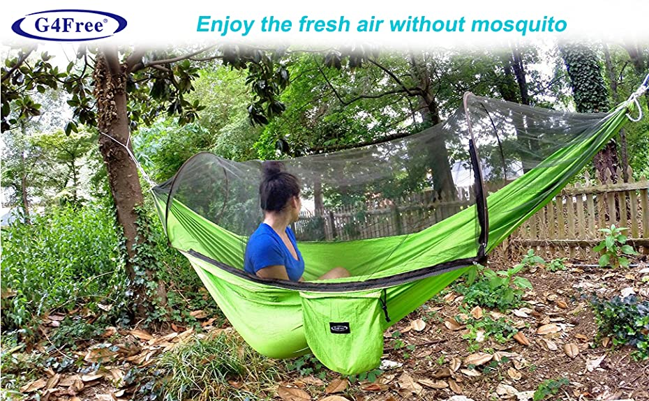 Ideal as a tent replacement,this Mosquito Net Camping Hammock is  lightweight,compact and can be taken anywhere. - Amazon.com: G4Free Portable & Foldable Camping Hammock Mosquito