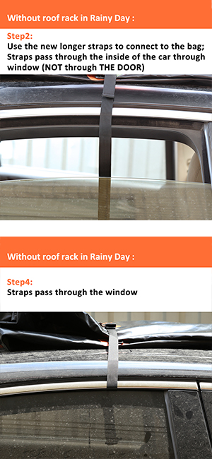 Choose Short Straps If You Have Side Rails Cross Bars Or Basket 8 For Vehicles With Roof Rack On All Four Sides