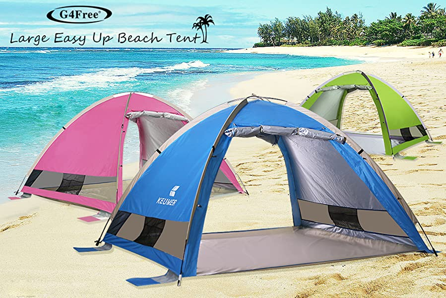 G4Free Large Pop Up Beach Tent  sc 1 st  Amazon.com : beach tents pop up - memphite.com