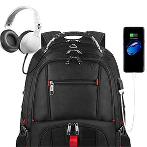 USb backapck backpack with usb charging port earphone jack waterproof backpack shockproof backpack