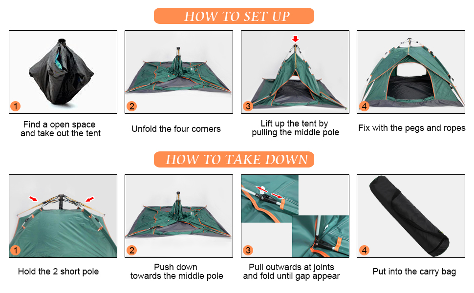 1 x Outer Tent 1 x Inner Tent 1 x Carry Bag 8 x Tent Pegs 4 x Ropes  sc 1 st  Amazon.com & Amazon.com: Vihir Double Layer 2-3 Person Dome Tent for Camping ...