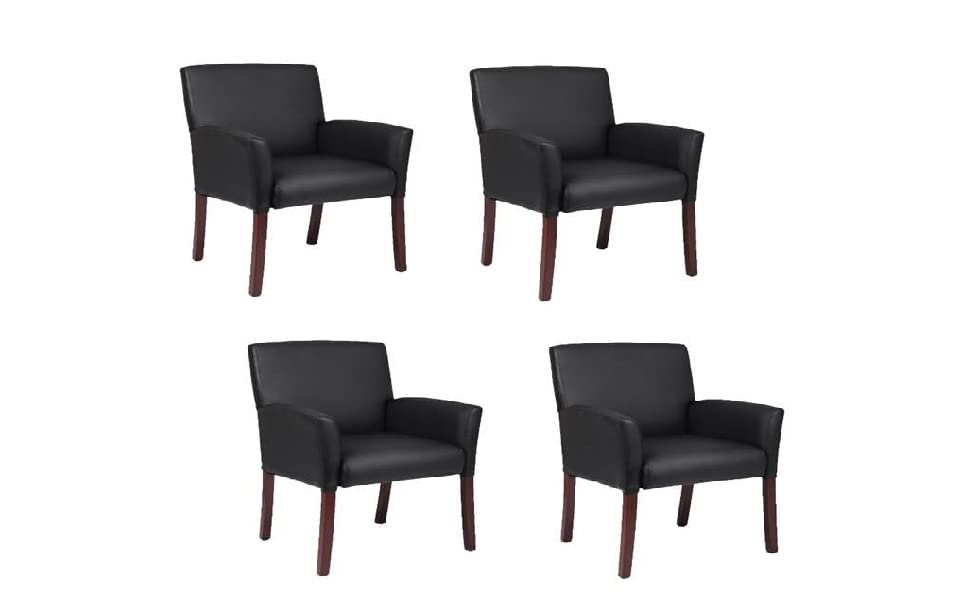 24 by 25 by 35-1//2-Inch Espresso//Charcoal Lorell Guest Chairs