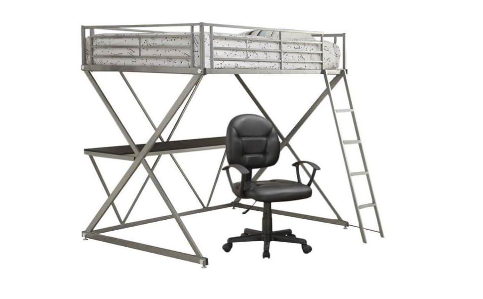 Super Amazon Com Home Square 2 Piece Dorm Bedroom Set With Loft Bralicious Painted Fabric Chair Ideas Braliciousco