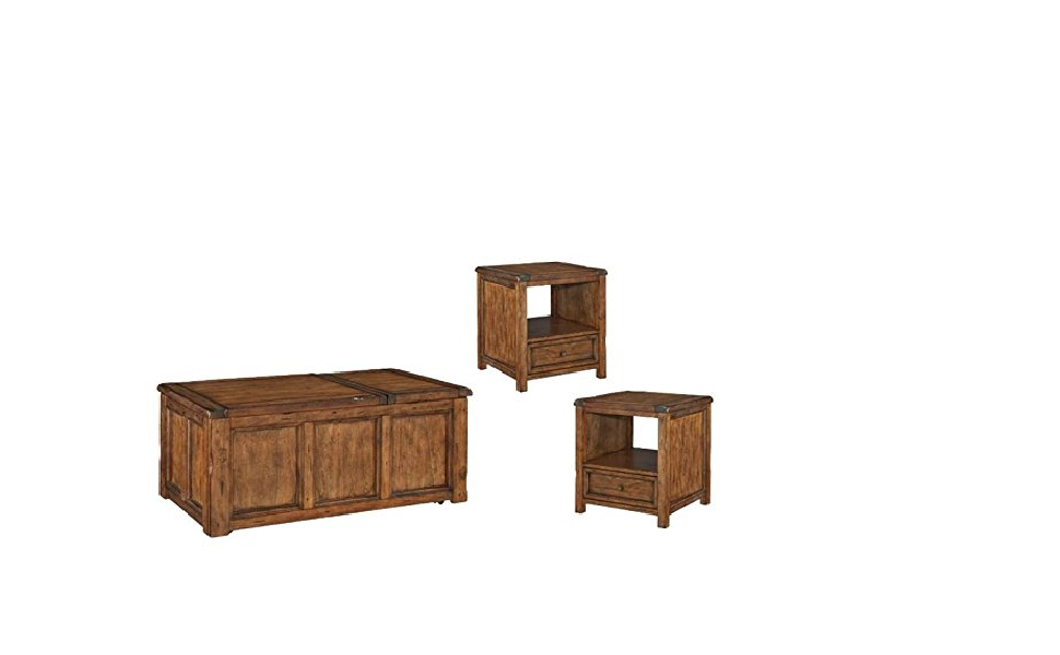 Amazon Com Home Square 3 Piece Rustic Coffee Table Set With