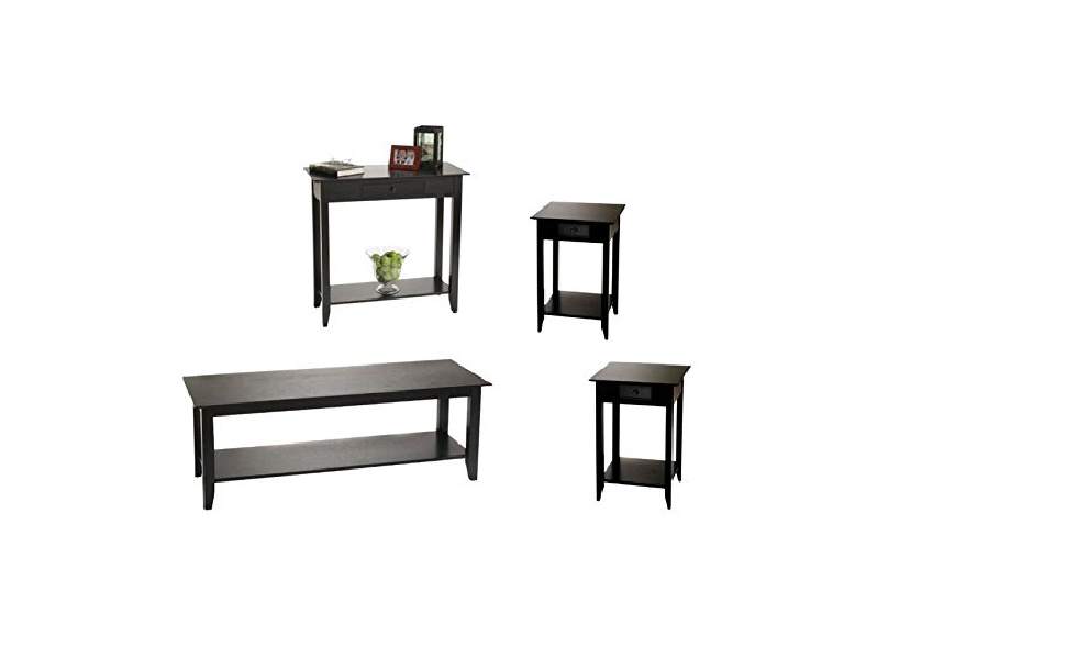Amazoncom Home Square 4 Piece Coffee Table Set With Coffee Table